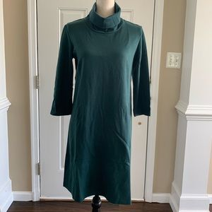 Isabella Oliver Green Turtleneck Dress Sz M